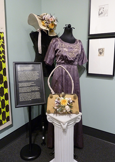Hat and Clutch Accents by Emily Koch and Mollee Seger; Silk Satin Dress (1911-13) MHCTC