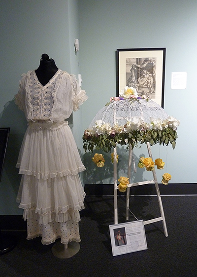 Parasol Accents by Emma Fordyce and Paige Wakefield; Cotton and Net Dress (1910s) MHCTC